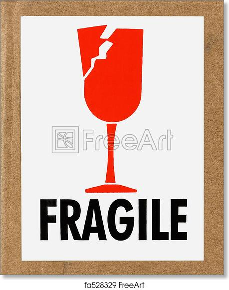 image about Fragile Printable titled Free of charge artwork print of Sensitive Label