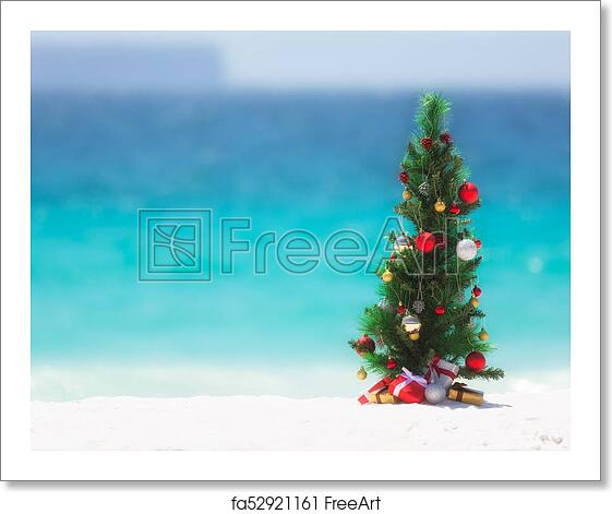 Christmas Beach.Free Art Print Of Christmas Tree On The Beach In Summer