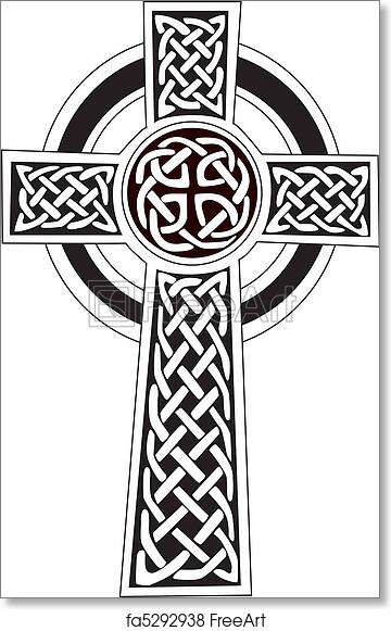 Free Art Print Of Celtic Cross Symbol Tattoo Or Art Complex