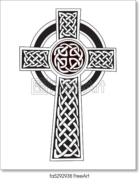 Free Art Print Of Celtic Cross Symbol Tattoo Or Art Complex