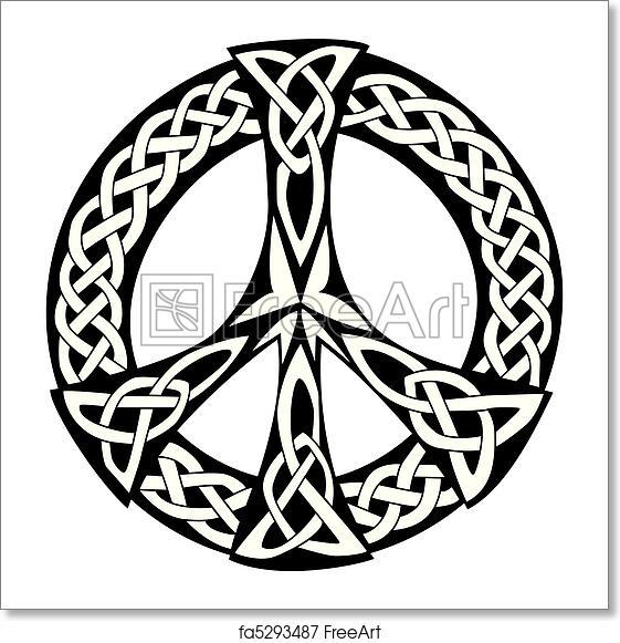 Free Art Print Of Celtic Design Peace Symbol An Illustration Of A
