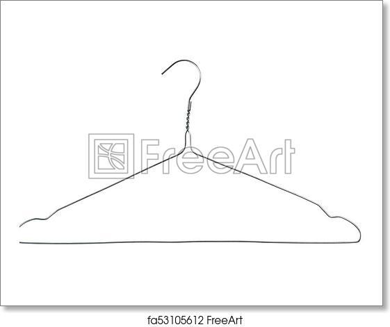 Free art print of Wire coat hanger. Wire coat hanger isolated on ...