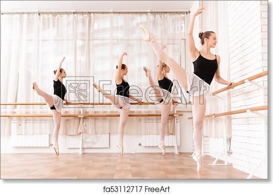 """print 24 x 36/"""" Ballet Dancer Rehearsal in the Studio art poster"""