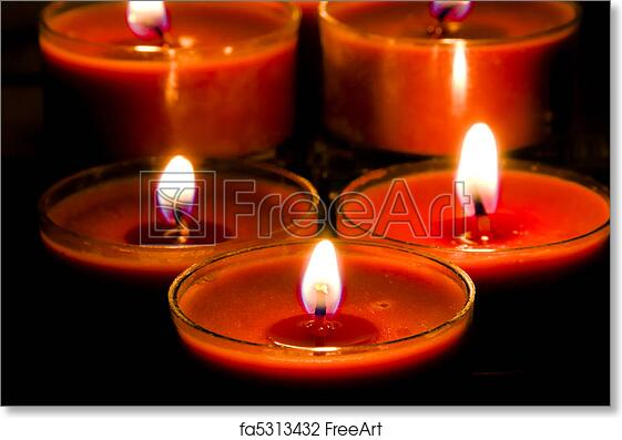 subdued lighting red church candles burning in subdued lighting freeart fa5313432 free art print of candles