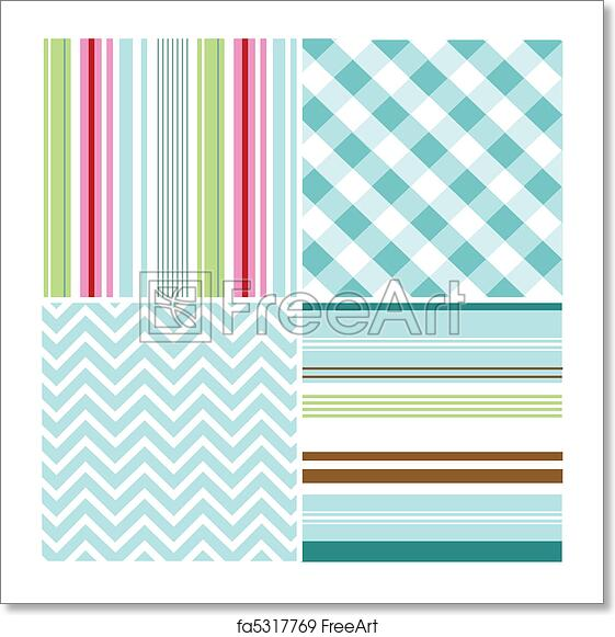Free art print of Seamless patterns, fabric texture