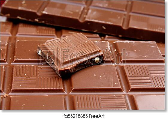 Free Art Print Of Chocolate Bars As Background Milk And Dark Shiny