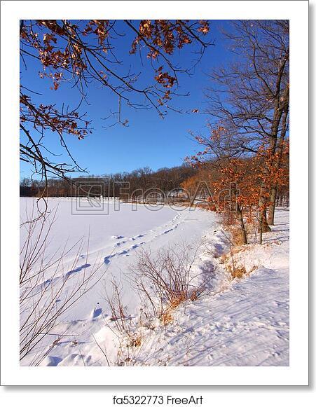 Free art print of Winter scene