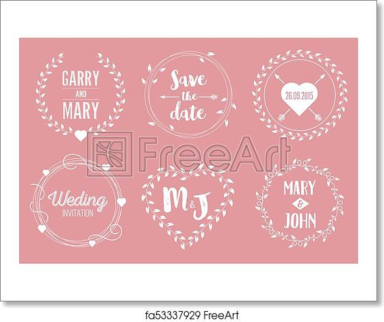 free art print of creative vector illustration of save the date