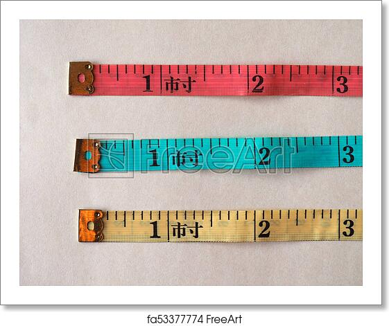 Free Art Print Of Tailor Tape Ruler In Cun Chinese Inch Tailor