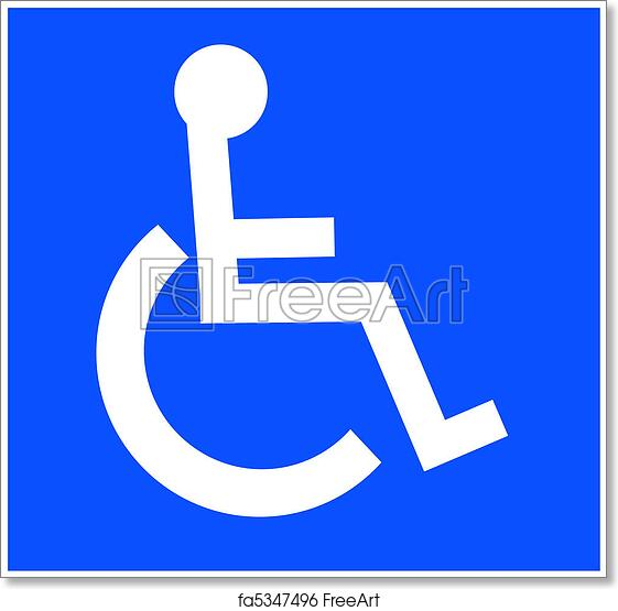 free art print of white handicap accessible symbol white handicap