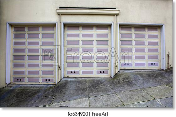 Free Art Print Of Three Lavender Garage Doors Three Lavender And