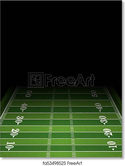 image about Printable Football Field Template referred to as Absolutely free artwork print of American Soccer Marketplace Historical past Template Case in point