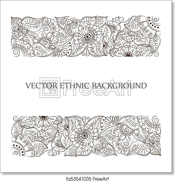 Free Art Print Of Tattoo Henna Background Vector Abstract Tattoo