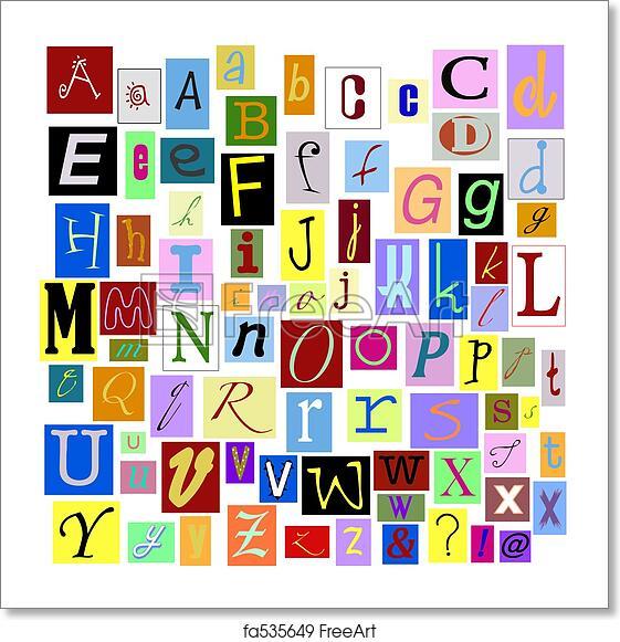 Free Art Print Of Alphabet Letters. Alphabet Magazine