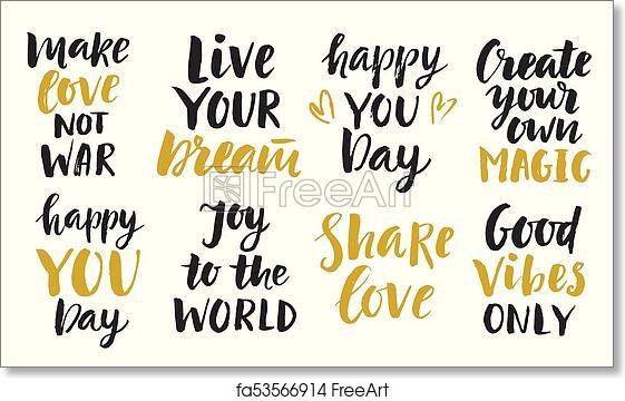 Free Art Print Of Trendy Inspirational Phrases Collection Trendy Gorgeous Inspirational Phrases