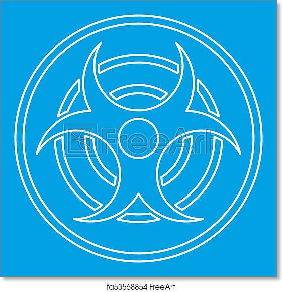 Free Art Print Of Biohazard Sign Icon Outline Style Biohazard Sign