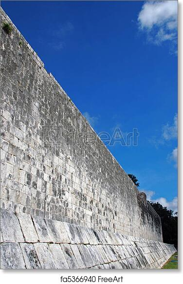 Free art print of Wall for Ancient Mayan Ball Court with Goal. Wall ...