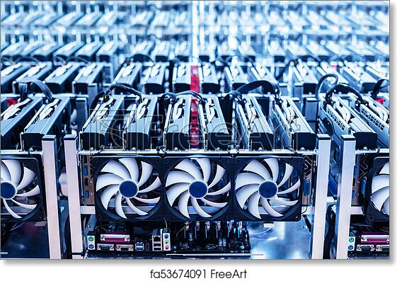 Free art print of Bitcoin mining farm  IT hardware