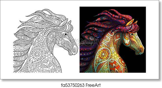 mustang horse coloring pages printable.html