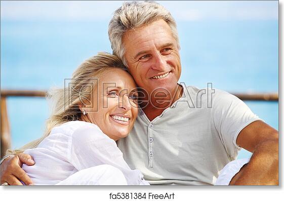 Couple Mature free art print of happy mature couple. happy mature couple smiling
