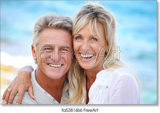 Couple Mature free art print of happy mature couple. happy mature couple smiling