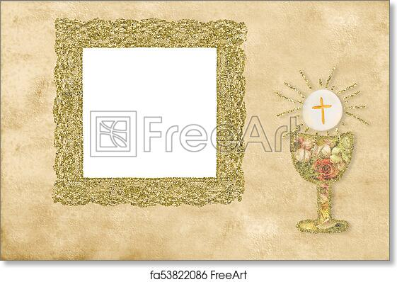 Free Art Print Of First Holy Communion Photo Frame Card First Holy