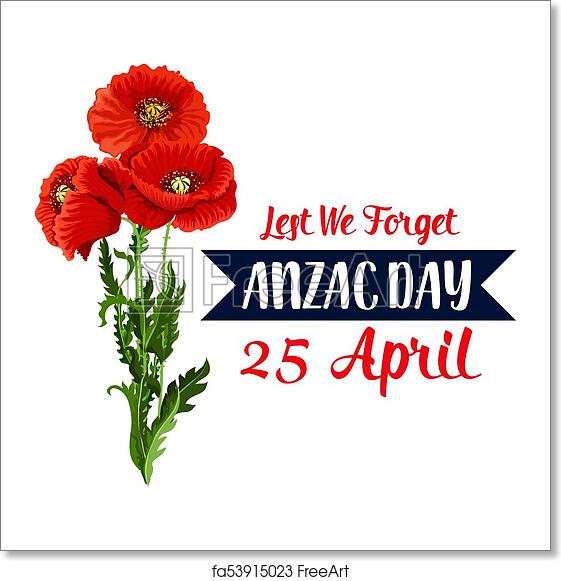 Free art print of anzac day 25 april red poppy vector icon ribbon free art print of anzac day 25 april red poppy vector icon ribbon mightylinksfo