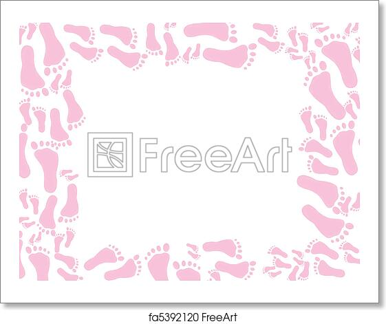 Free art print of Baby pink footprint Background
