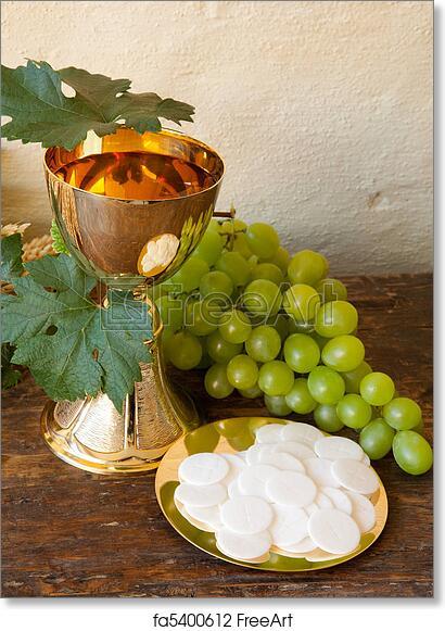 Free Art Print Of Communion Bread And Wine Holy Communion Image
