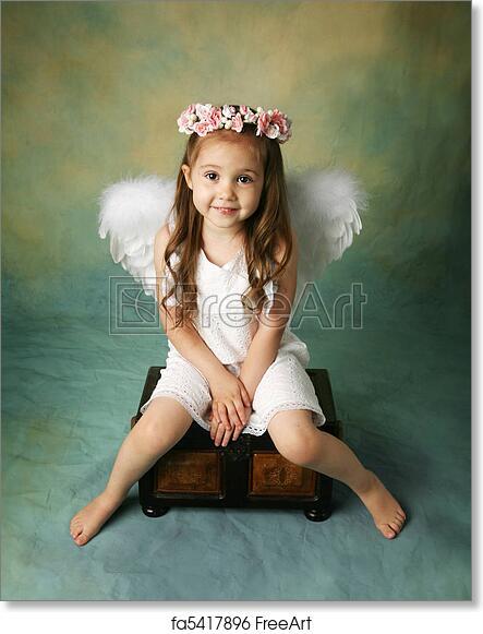 Free Art Print Of Little Angel Girl