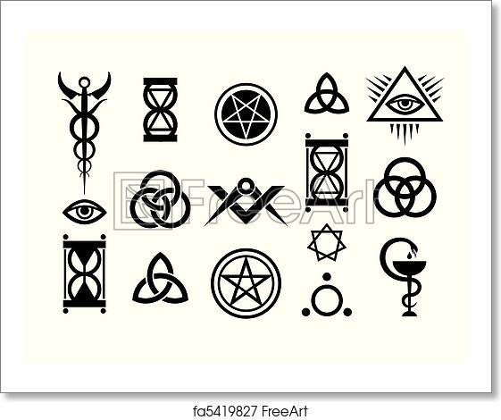 Free art print of Occult Signs And Magic Stamps