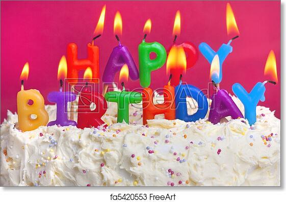 Free Art Print Of Happy Birthday Cake