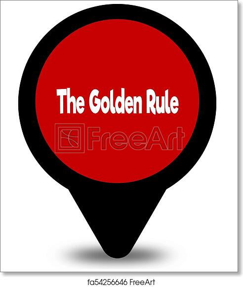Free Art Print Of The Golden Rule On Red Location Pointer