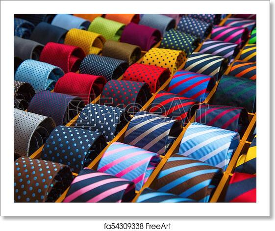 8aea66a6e7d7 Free art print of Tie collection. Colorful tie collection in the ...