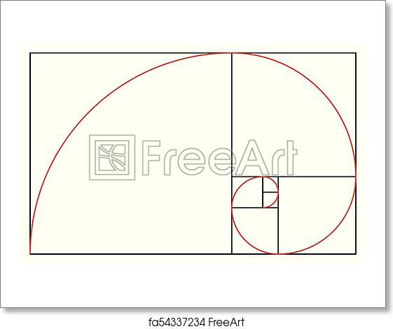 free art print of golden ratio template proportion symbol graphic