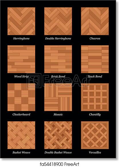 Free art print of Parquet Floor Pattern Parquetry Black ...