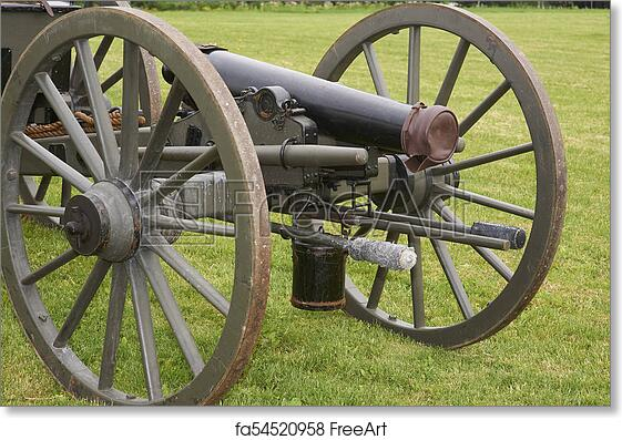 Free art print of Civil war cannon