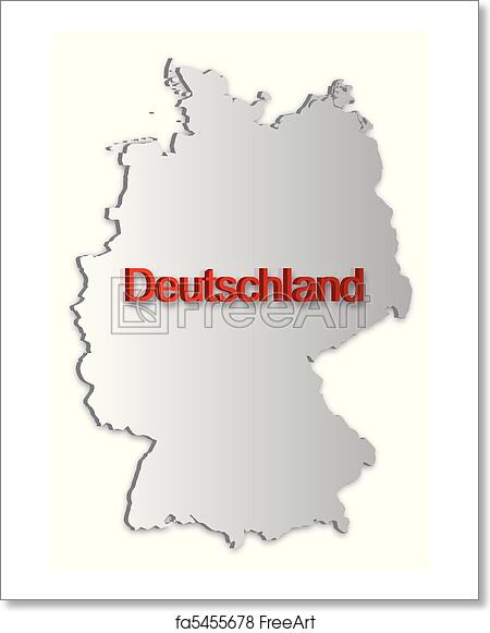 Free Printable Map Of Germany.Free Art Print Of Germany Map