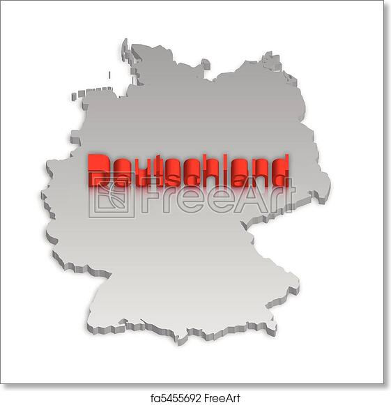 Simple Map Of Germany.Free Art Print Of Germany Map 3