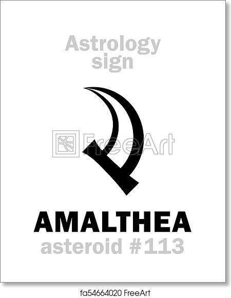 Free art print of Astrology: asteroid AMALTHEA