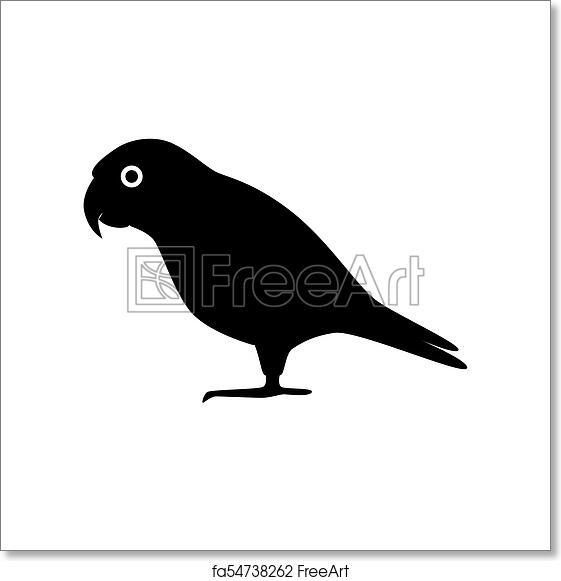 Free art print of Senegal parrot silhouette icon in flat style