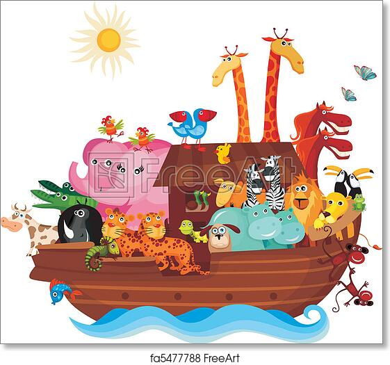 photograph about Free Printable Pictures of Noah's Ark referred to as Absolutely free artwork print of Noahs Ark