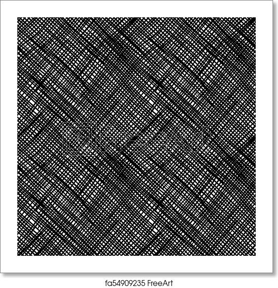 Free art print of Simple pattern of hatching grunge texture