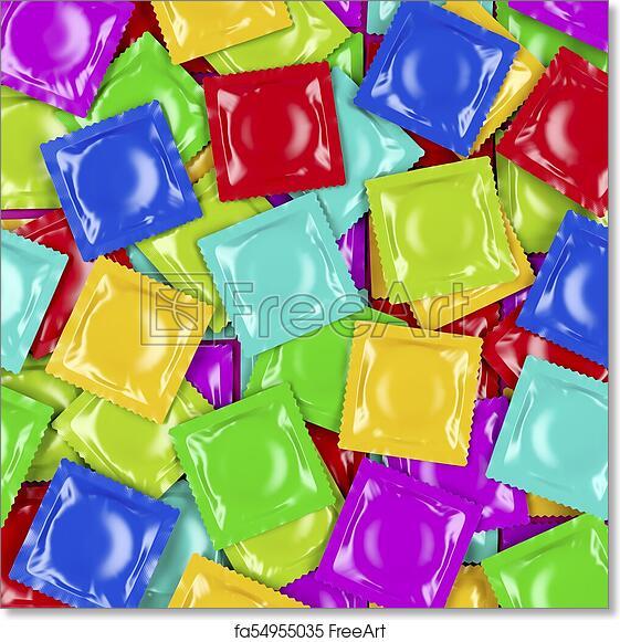 Free art print of Multicolored condoms, top view. Group of different colored  condoms, top view | FreeArt | fa54955035
