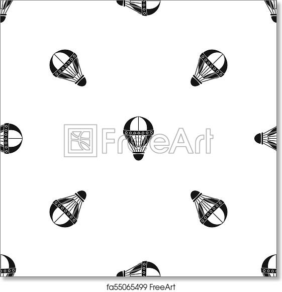 image regarding Hot Air Balloon Pattern Printable known as Free of charge artwork print of Typical warm air balloon routine seamless black