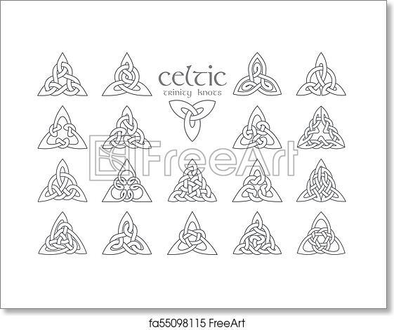 Free art print of Vector celtic trinity knot  18 items  Ethnic ornament   Geometric