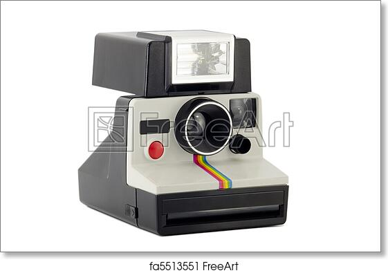 graphic relating to Polaroid Camera Printable referred to as Absolutely free artwork print of Previous Polaroid Digicam Isolated upon White
