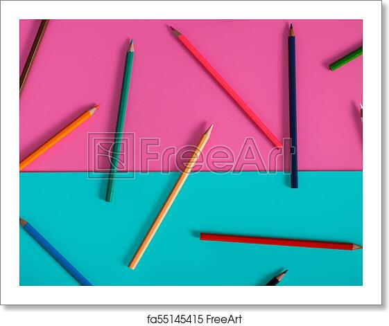 Free Art Print Of Abstract Color Pencil Mockup For Design