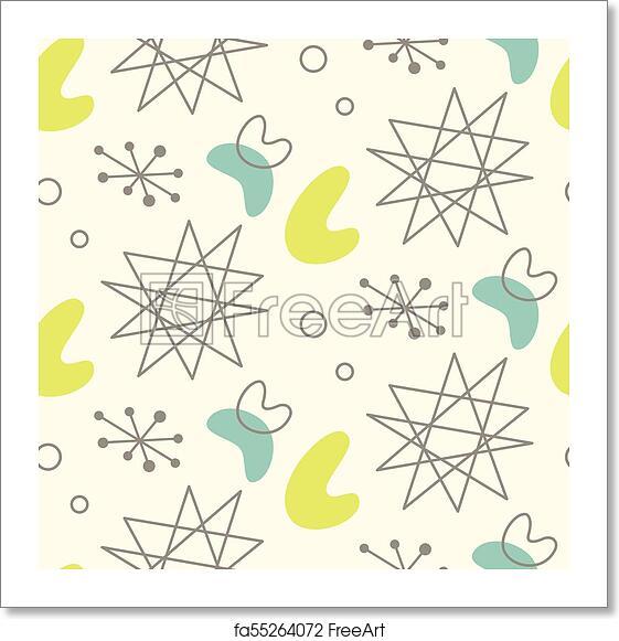 Free Art Print Of Mid Century Modern Seamless Pattern