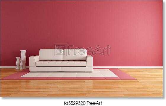 Free art print of Minimalist living room. White couch in a modern ...